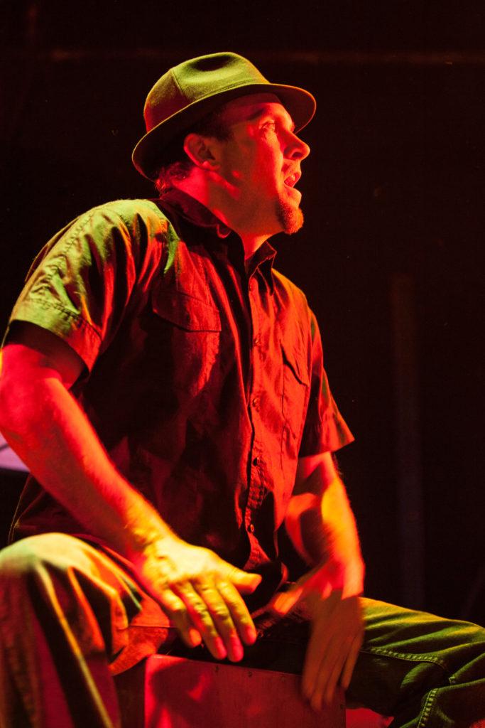 Gabe Harris playing cajon